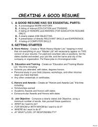 Create Job Resume How To Make A Job Resume Resumes For Highschool Student With No 7