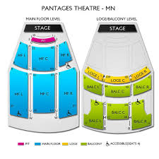 Pantages Minneapolis Seating Chart Pantages Theatre Tickets
