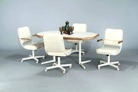dining room sets with rolling chairs dining room awesome dinette sets with rolling chairs table caster