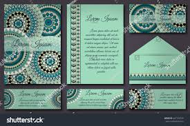 invitations and banners template set. Floral mandala pattern and ornaments. Oriental  design Layout.