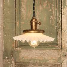 Vintage Lighting Reproduction Vintage Lighting With Vintage Petticoat Style Shade And