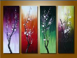 beautiful 4 piece oil painting canvas art for comfort living room decoration