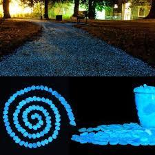 100 pcs glow in the dark garden pebbles cozzine garden decor within glow in the dark