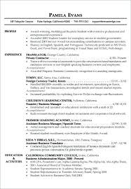 Resumes Examples For Students Fascinating Sample Good Resume Format How To Write Good Resume Examples Sample