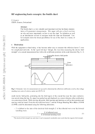 Pdf Rf Engineering Basic Concepts The Smith Chart
