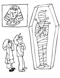 Small Picture Mummy Coloring Page Kids Looking At Mummy In Museum