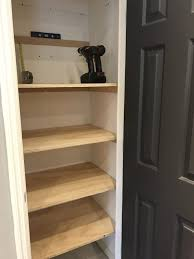 DIY Closet Shelves for Storage Bonus Room Makeover
