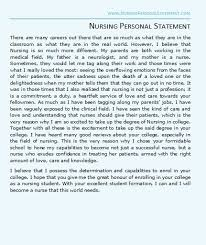 nurse personal statement nursing personal statement examples