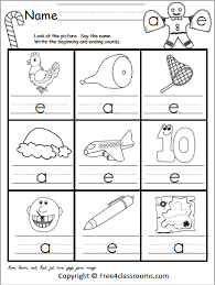 All worksheets only my followed users only my favourite worksheets only my own worksheets. Free Christmas Cvc Beginning And Ending Sounds Worksheet Free4classrooms