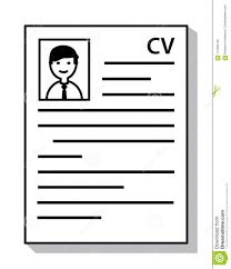 Recruitment Resume Cv Curriculum Vitae Document With Shadow Icon