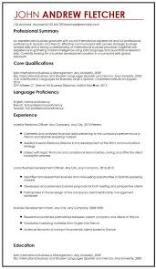 Sample Of Qualifications In Resumes Cv Sample With Language Skills Myperfectcv