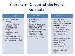 the french revolution acirc copy student handouts inc ppt 13 short term causes of the french revolution bankruptcy caused by deficit