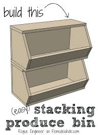 wooden vegetable storage bin vegetable bins for kitchen kitchens a easy building plan organize your produce