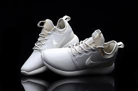 nike roshe two 2 leather white silver women s men s running shoes