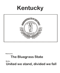 Usa Printables Kentucky State Flag State Of Kentucky Coloring