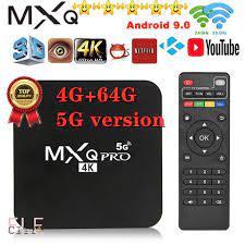 Hộp TV box Android MXQ PRO 4K 5G đã cài sẵn kênh YouTube Chrome tiện dụng