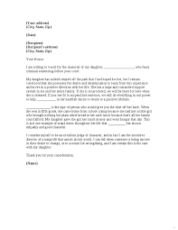 6 Character Witness Letter Examples Receipts Template