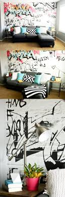 This playroom features one of our customisable graffiti wallpaper designs