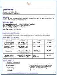 Mca Fresher Resume Format Pdf Prepasaintdenis Com