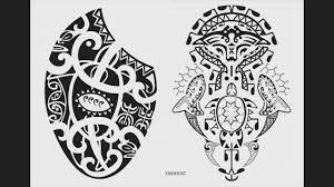 Maori Polynesian Hawaiian Tribal Style Tattoo Designs 3
