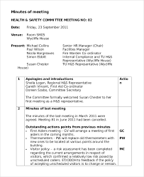 Sample Meeting Minutes Format 7 Examples In Pdf Word