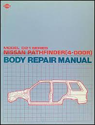 nissan truck and pathfinder wiring diagram manual original 1990 1995 nissan pathfinder 4 door body repair shop manual original