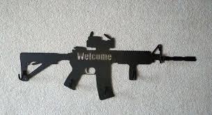 Rifle Coat Rack Assault Rifle Coat Hangers steel ar100 3