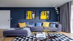 living room blue living room ideas wall art pictures grey linen l shape sofa throw blanket