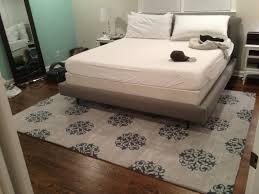 rug under king bed. placement rug under bed king i