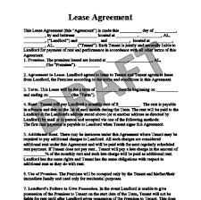 Standard Rental Agreement Template Residential Lease Agreement Form Free Rental Agreement Legal