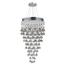 worldwide lighting icicle collection 9 light chrome crystal chandelier