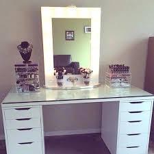 makeup desk and mirror with lights full make up desks decor 13