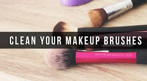 how i clean my makeup brushes quick easy