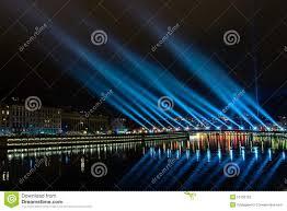 Skyline Festival Of Lights Discount Lyon Skyline During Festival Of Lights Editorial Photography