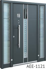 Captivating Grey Aluminium Front Door. Grey Contemporary Front Doors