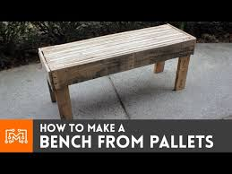 a bench from reclaimed pallets