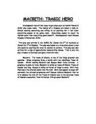 macbeth tragic hero essay conclusion english literature essays macbeth as a tragic hero