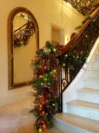Holiday Decor: Stair banister garland traditional
