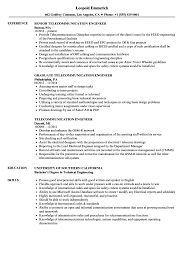 Telecommunication Engineer Resume Samples Velvet Jobs