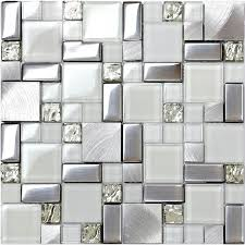 It's likely that this will become a lasting trend that homeowners will choose as a. Silver Metal And Glass Tile Backsplash Ideas Bathroom Brushed Stainless Steel Bravotti Com