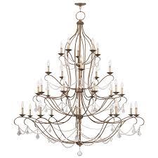 30 light antique gold leaf chandelier