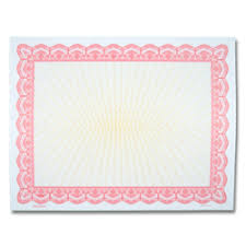 Lc D Rose Red Certificate Border