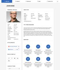 Moticv Modern Vcard Resume Builder Wordpress Theme