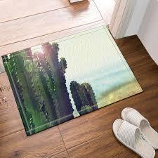 details about door mat bathroom rug bedroom carpet bath mats rug non slip cactus and desert