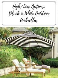 high low options black white outdoor umbrella confettistyle