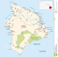 big island map stock vector image of illustration drawing