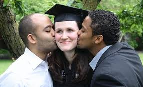 from homelessness to harvard university how liz murray turned her liz friends edwin and ruben at her graduation from harvard in 2009