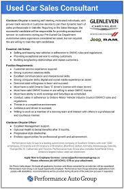 Auto Sales Manager Job Description Car Printable Car Sales Best