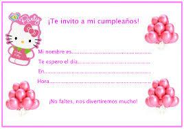 Invitaciones Cumpleaños Hello Kitty Locos Por Hello Kitty