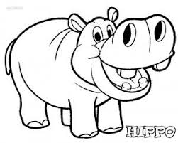 Hippo Coloring Pages Its National Hippotamus Day Animal